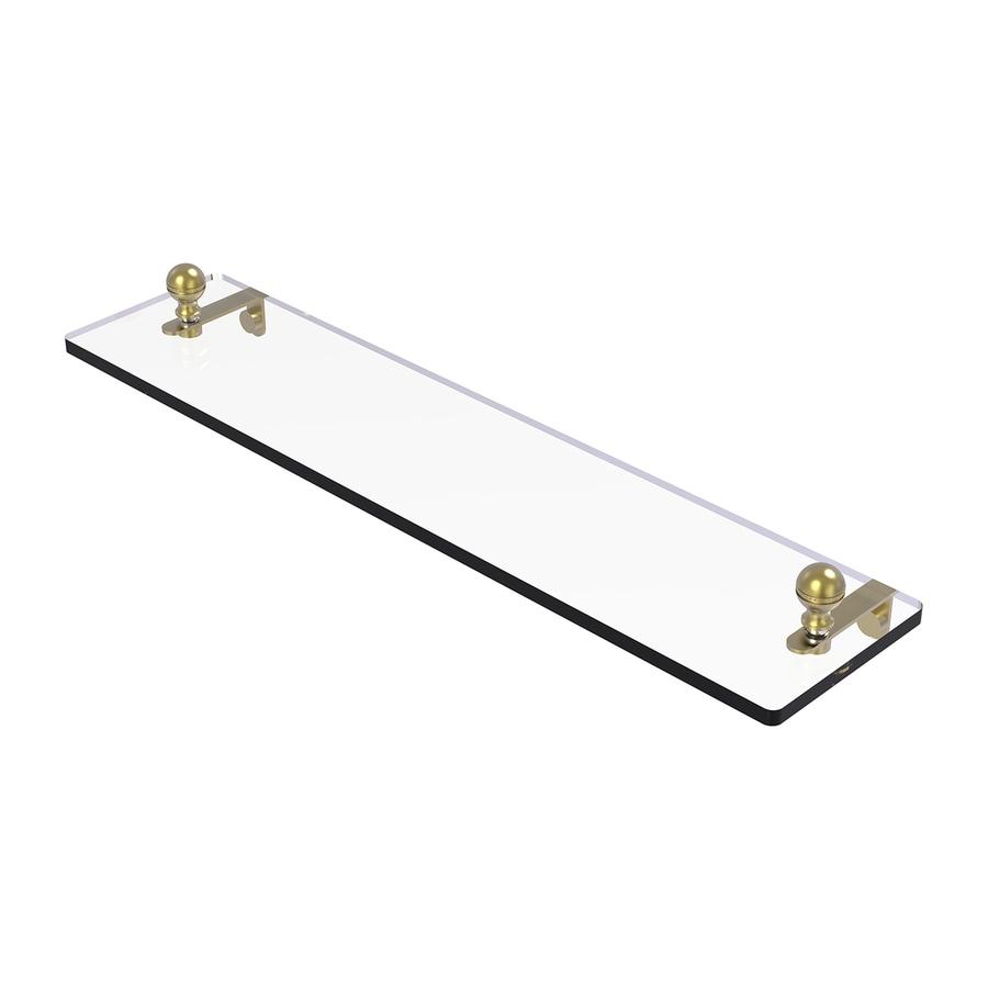 Allied Brass Mambo 1-Tier Satin Brass Brass Bathroom Shelf
