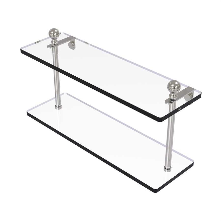 Allied Brass Prestige Regal 2-Tier Satin Nickel Brass Bathroom Shelf