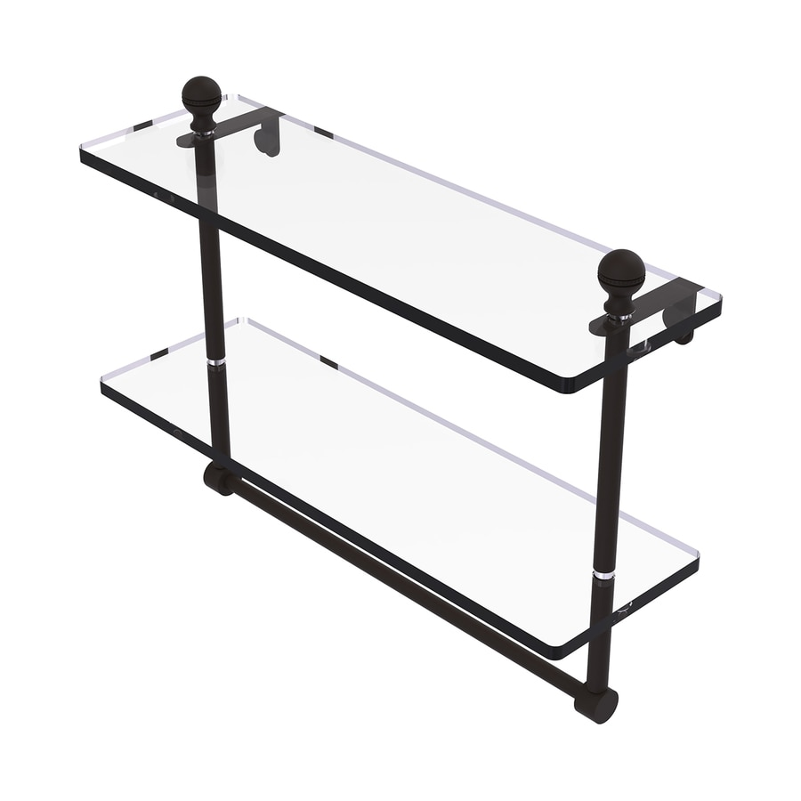 Allied Brass Mambo 2-Tier Oil Rubbed Bronze Brass Bathroom Shelf