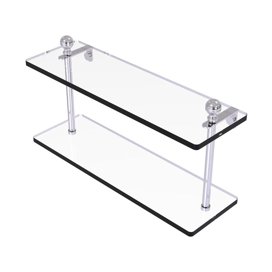 Allied Brass Mambo 2-Tier Polished Chrome Brass Bathroom Shelf