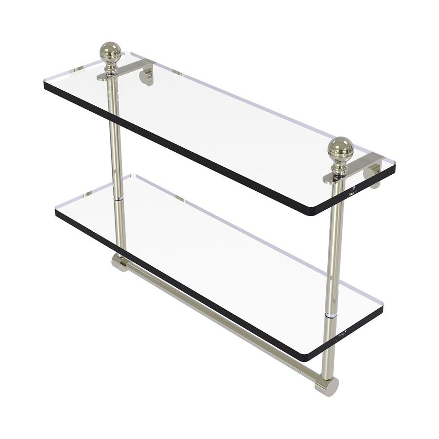 Allied Brass Mambo 2-Tier Polished Nickel Brass Bathroom Shelf