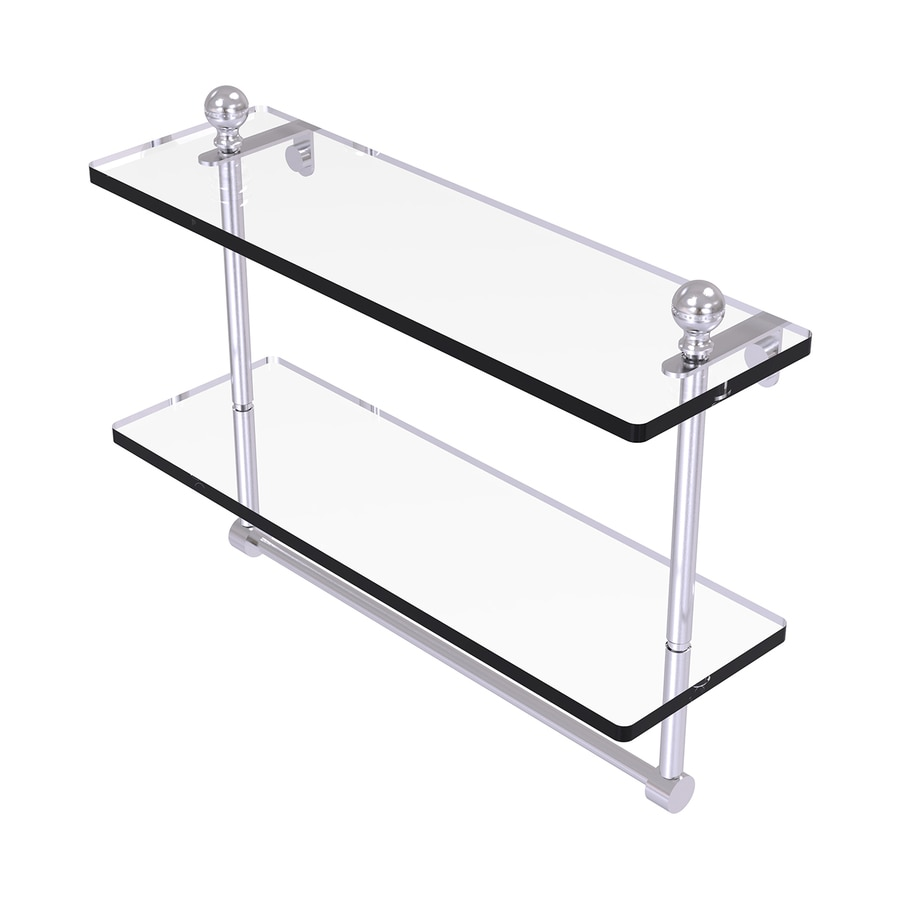 Allied Brass Mambo 2-Tier Satin Chrome Brass Bathroom Shelf