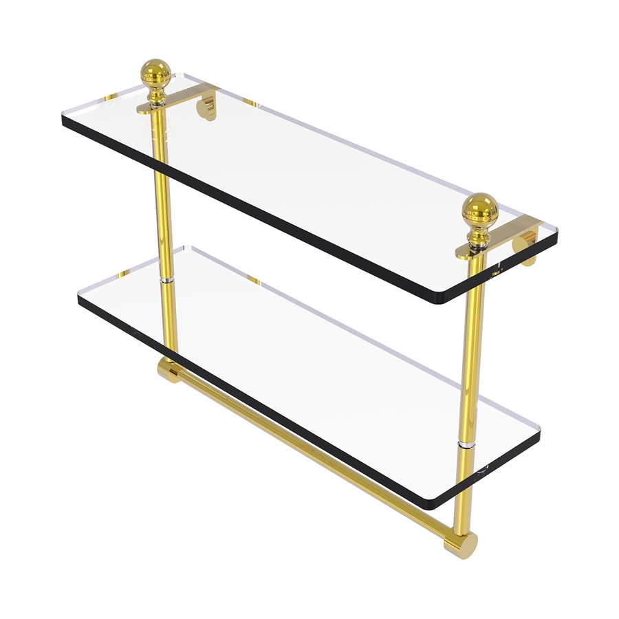 Allied Brass Mambo 2-Tier Polished Brass Bathroom Shelf