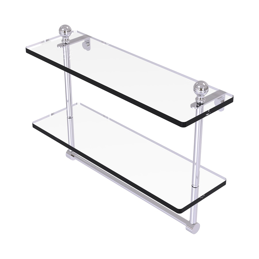 Allied Brass Mambo 2-Tier Polished Chrome Brass Bathroom Shelf