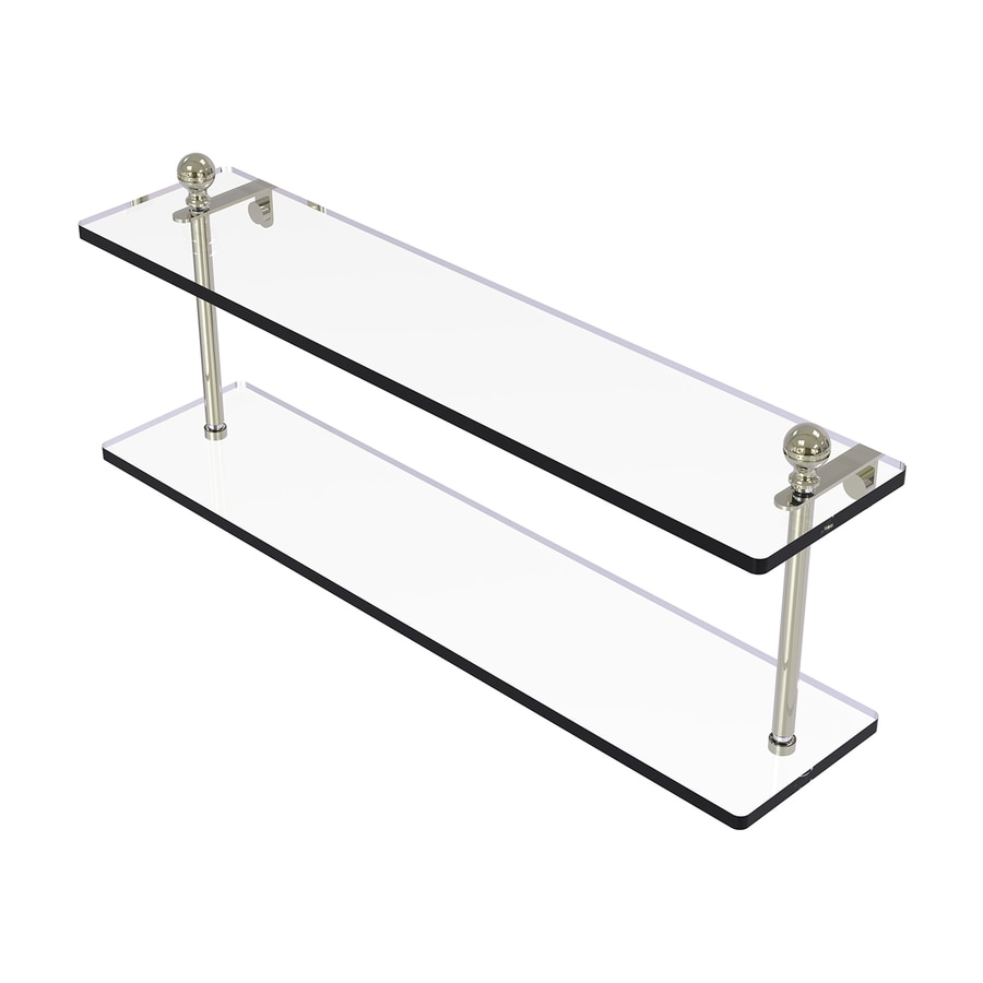 Allied Brass Mambo 2-Tier Polished Nickel Brass Bathroom Shelf