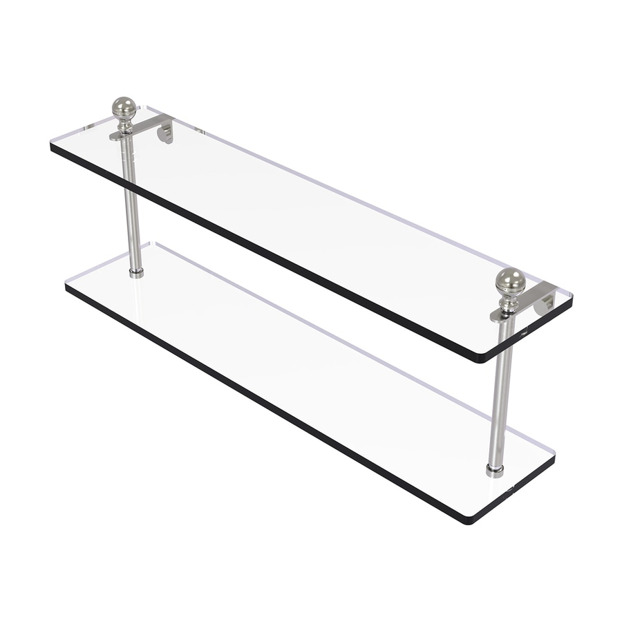 Allied Brass Mambo 2-Tier Satin Nickel Bathroom Shelf