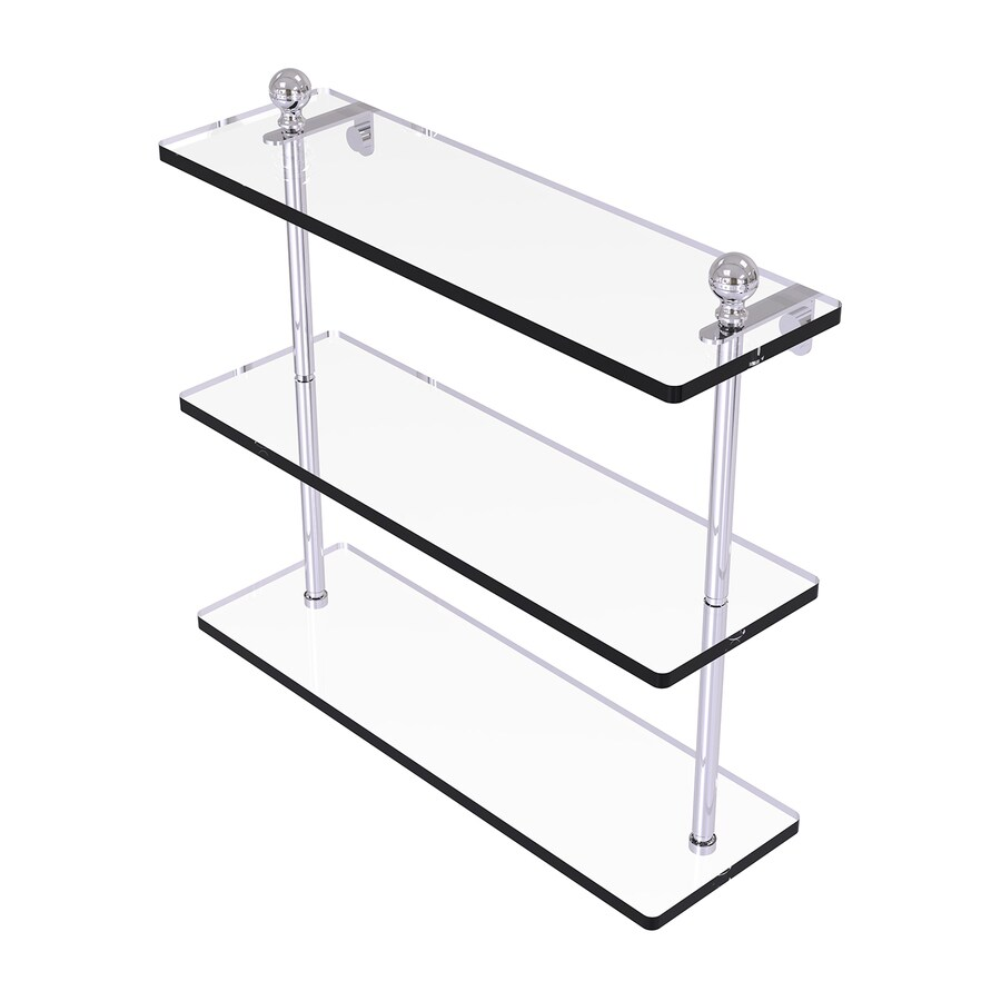 Allied Brass Mambo 3-Tier Polished Chrome Brass Bathroom Shelf