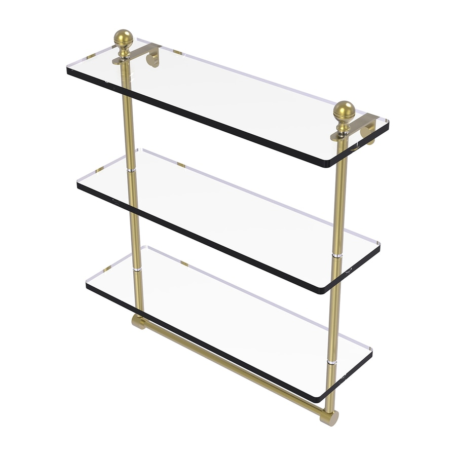 Allied Brass Mambo 3-Tier Satin Brass Bathroom Shelf