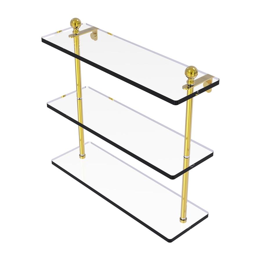 Allied Brass Mambo 3-Tier Polished Brass Bathroom Shelf