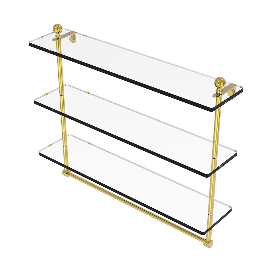 Allied Brass Mambo 3-Tier Polished Brass Bathroom Shelf