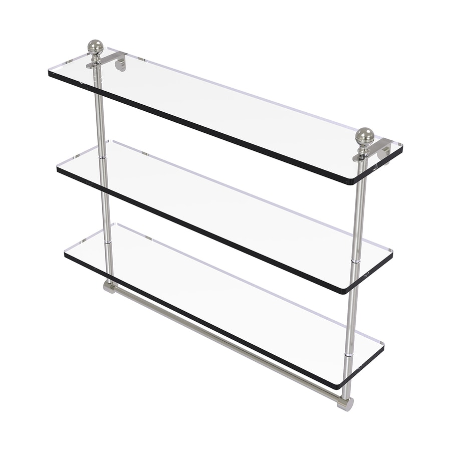 Allied Brass Mambo 3-Tier Satin Nickel Brass Bathroom Shelf