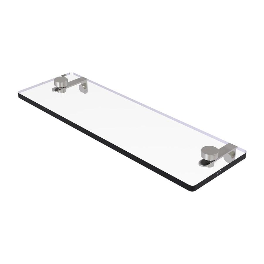 Allied Brass 1-Tier Satin Nickel Brass Bathroom Shelf