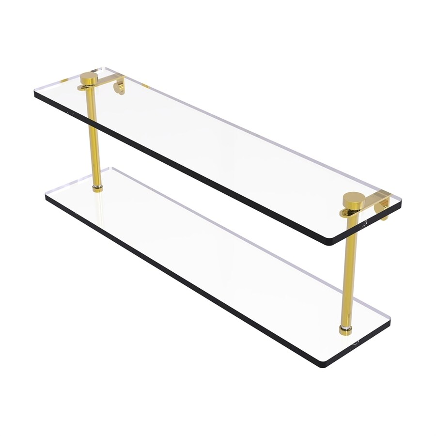 Allied Brass Prestige Regal 2-Tier Polished Brass Bathroom Shelf