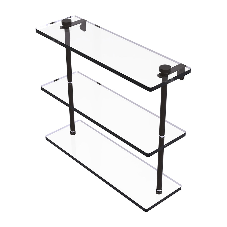 Allied Brass 3-Tier Oil Rubbed Bronze Brass Bathroom Shelf