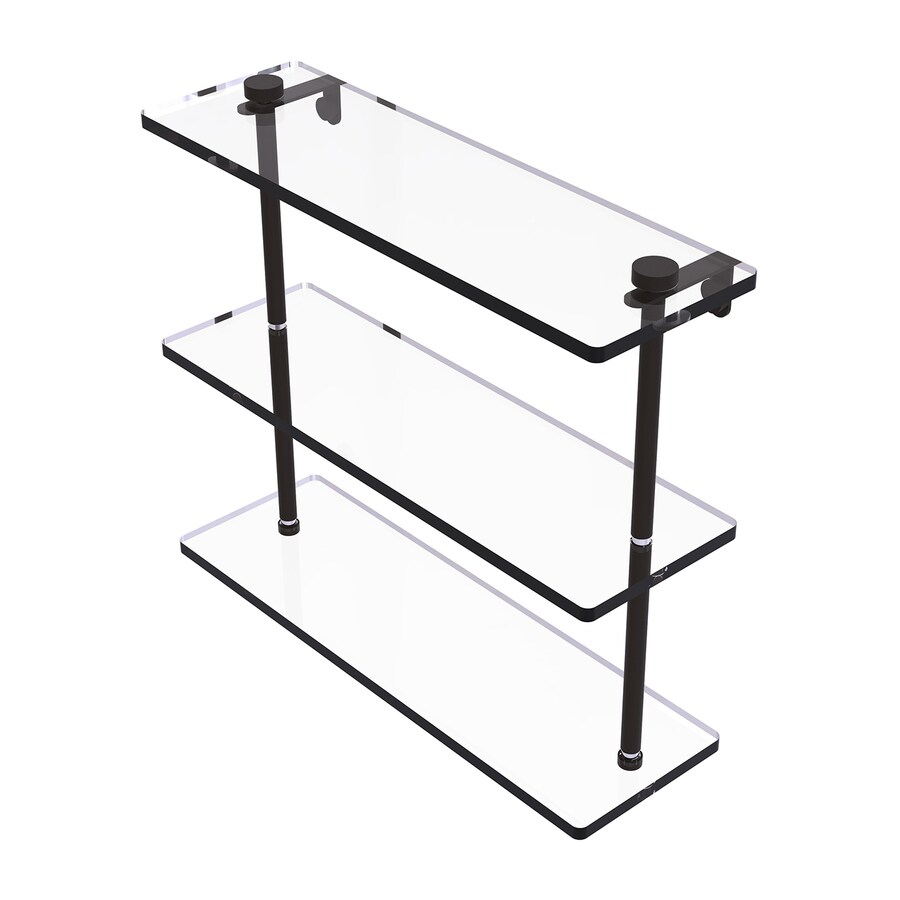 Shop Allied Brass 3 Tier Oil Rubbed Bronze Brass Bathroom Shelf At