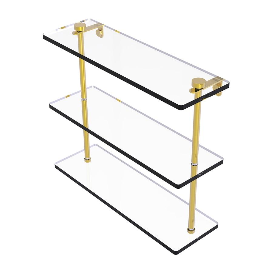 Allied Brass 3-Tier Polished Brass Bathroom Shelf