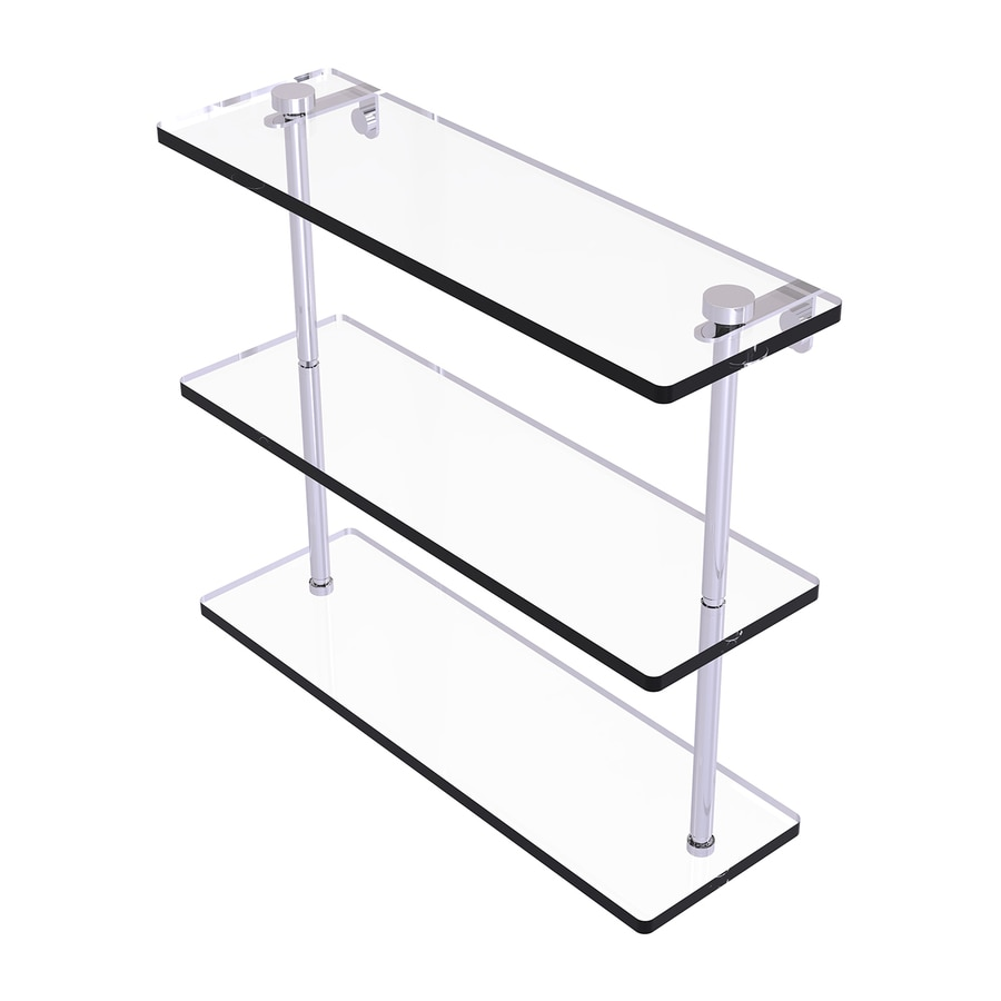 Allied Brass Prestige Regal 3-Tier Polished Chrome Brass Bathroom Shelf