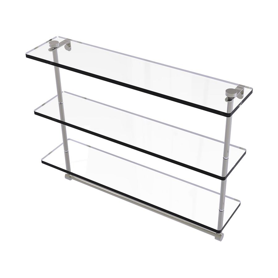 Allied Brass 3-Tier Satin Nickel Brass Bathroom Shelf