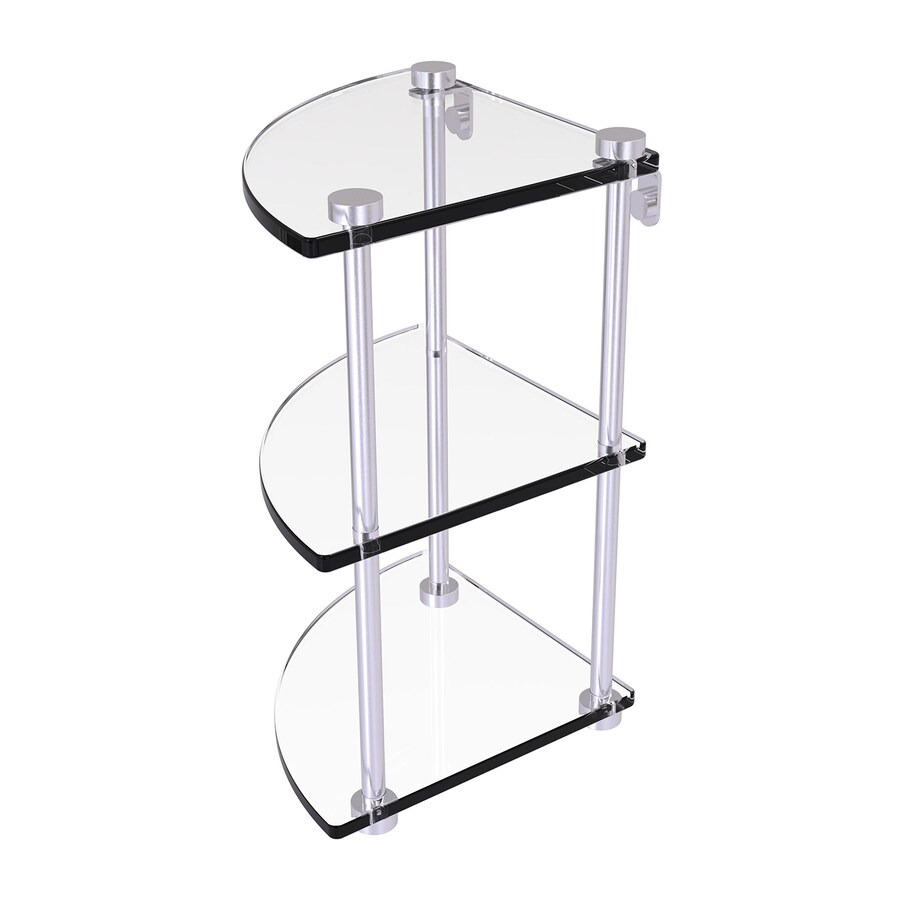 Allied Brass Prestige Regal 3-Tier Satin Chrome Brass Bathroom Shelf