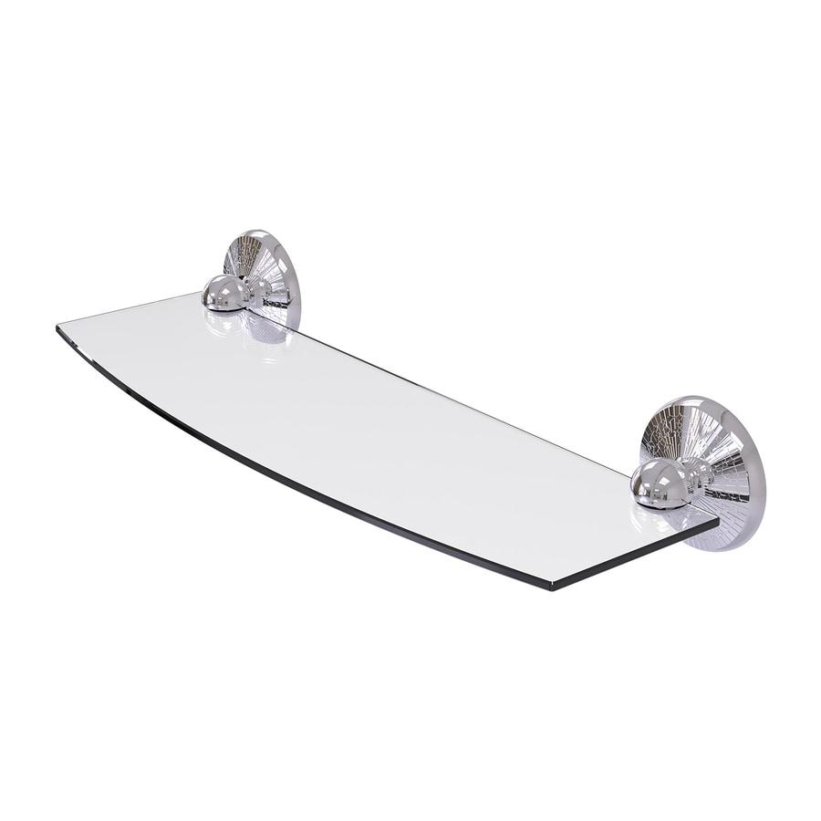 Allied Brass Prestige Monte Carlo 1-Tier Polished Chrome Brass Bathroom Shelf