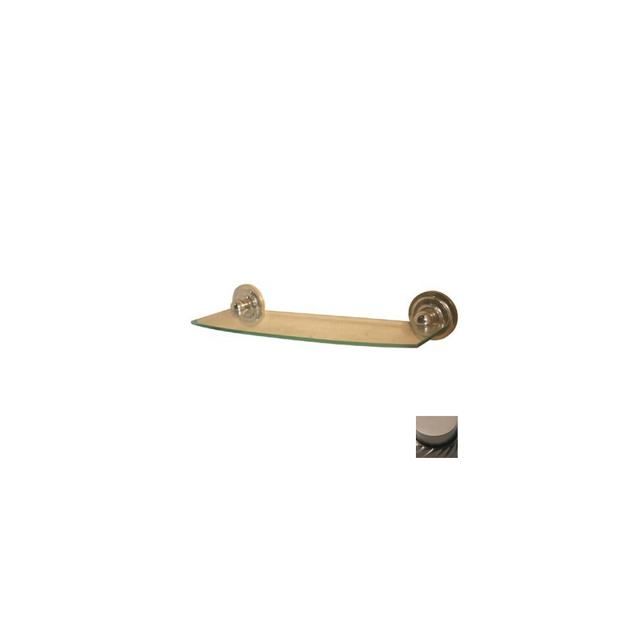 Shop Allied Brass Prestige Que New Oil Rubbed Bronze Brass Bathroom Shelf At