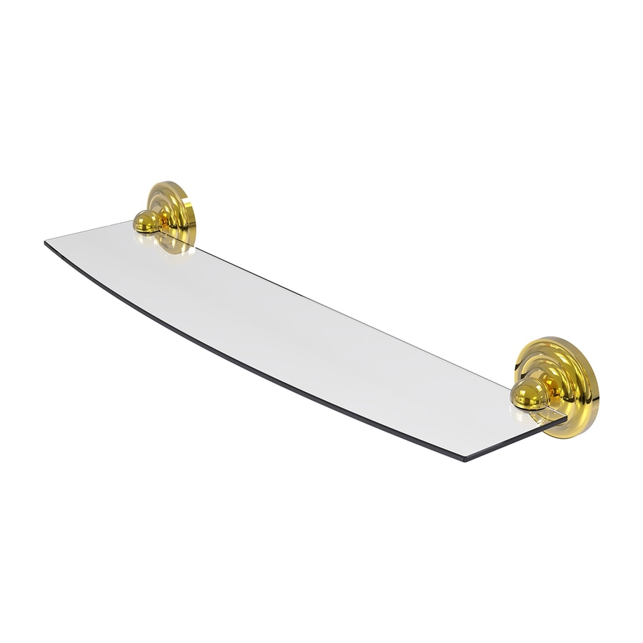 Allied Brass Prestige Que New 1-Tier Polished Brass Bathroom Shelf