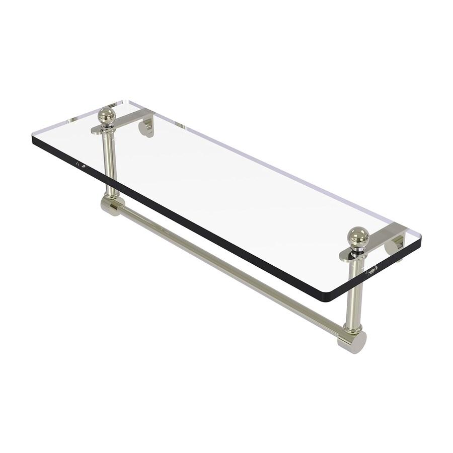 Allied Brass Prestige Regal 1-Tier Polished Nickel Brass Bathroom Shelf