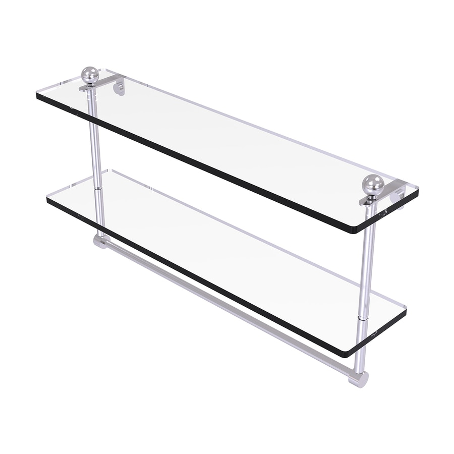 Allied Brass Prestige Regal 2-Tier Satin Chrome Bathroom Shelf