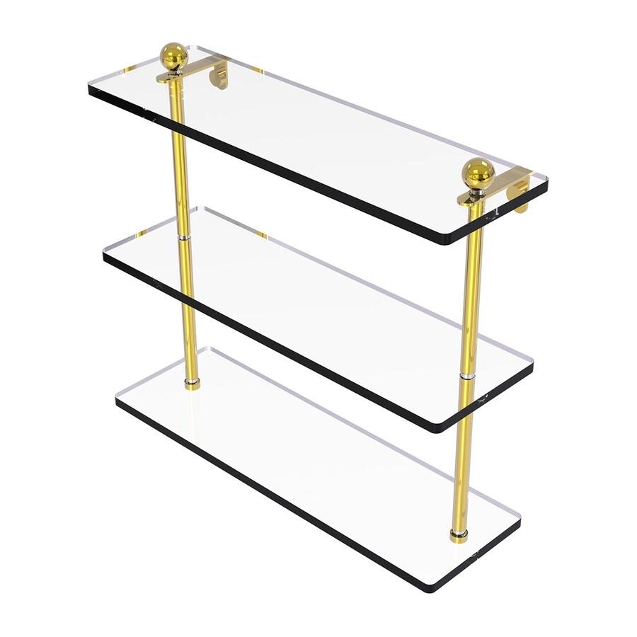 Allied Brass Prestige Regal 3-Tier Polished Brass Bathroom Shelf