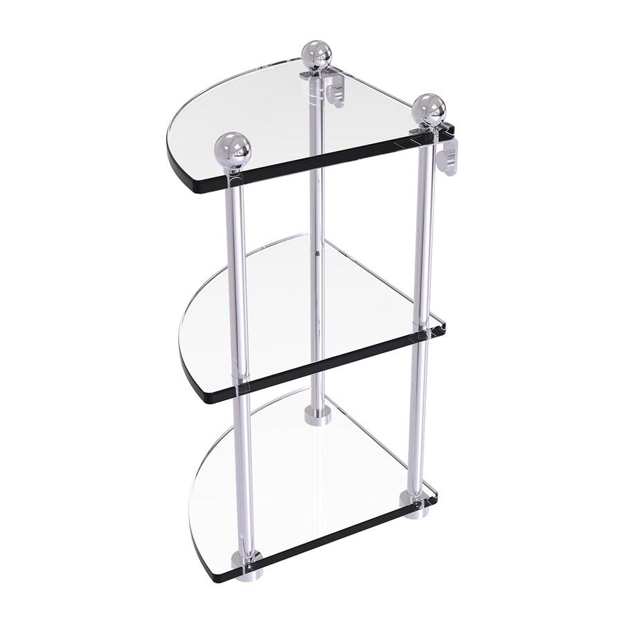 Allied Brass 3-Tier Polished Chrome Brass Bathroom Shelf