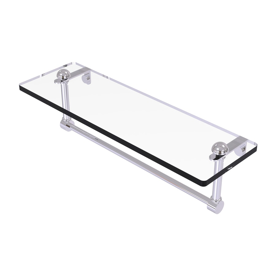 Allied Brass 1-Tier Polished Chrome Brass Bathroom Shelf