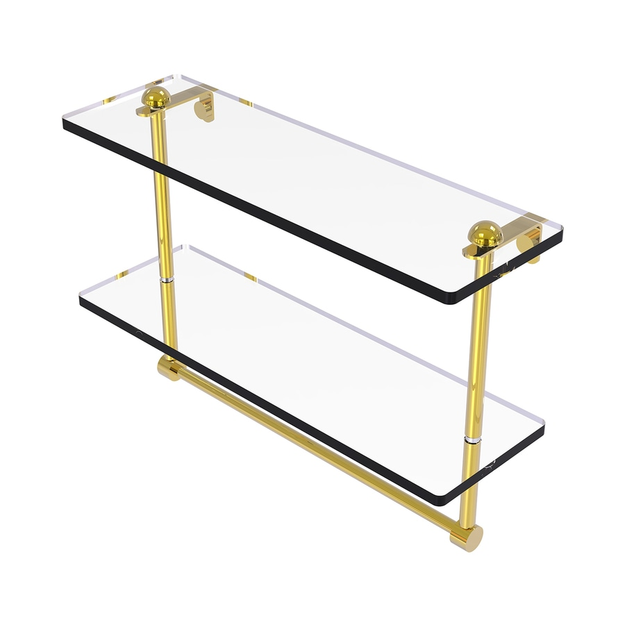 Allied Brass 2-Tier Polished Brass Bathroom Shelf