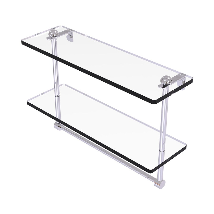 Allied Brass 2-Tier Polished Chrome Brass Bathroom Shelf