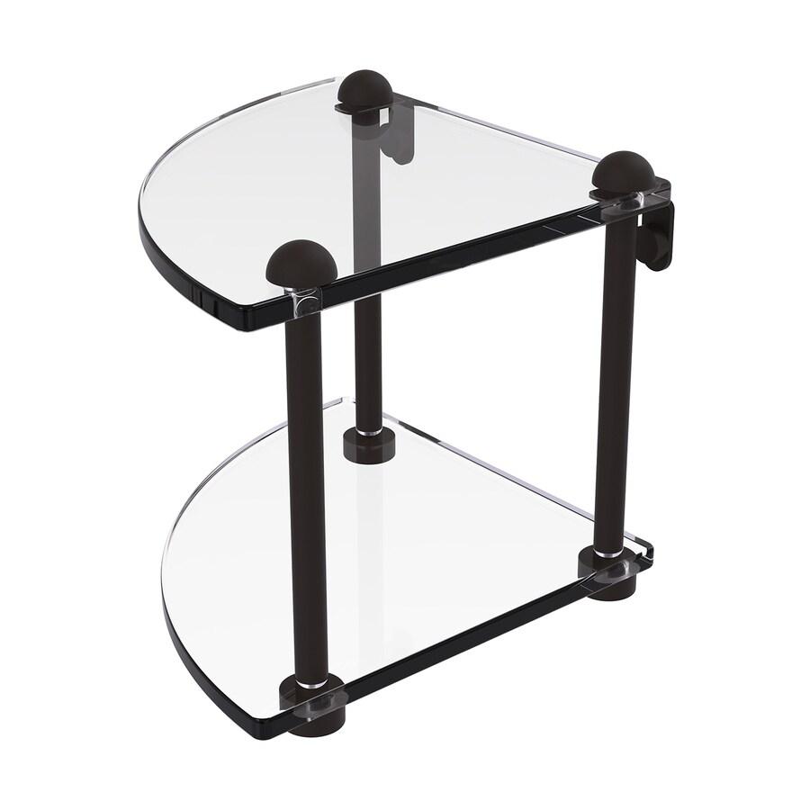 Allied Brass Prestige Regal 2-Tier Oil Rubbed Bronze Brass Bathroom Shelf