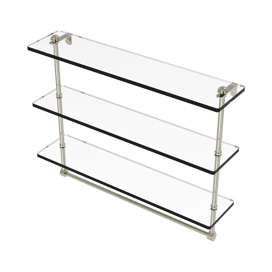Allied Brass Prestige Regal 3-Tier Polished Nickel Brass Bathroom Shelf