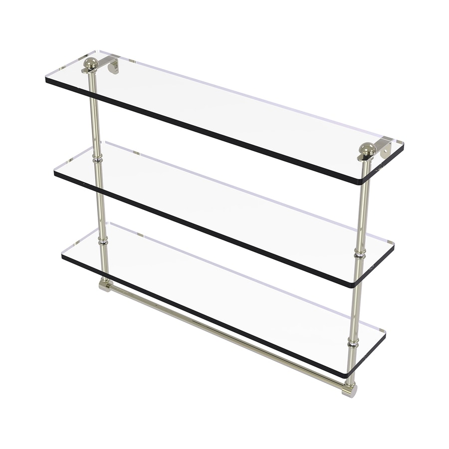 Allied Brass 3-Tier Polished Nickel Brass Bathroom Shelf