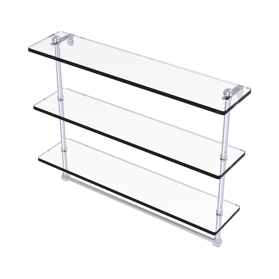 Allied Brass 3-Tier Satin Chrome Brass Bathroom Shelf