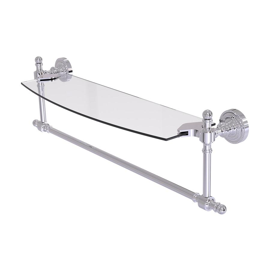 Allied Brass Retro Dot 1-Tier Polished Chrome Brass Bathroom Shelf