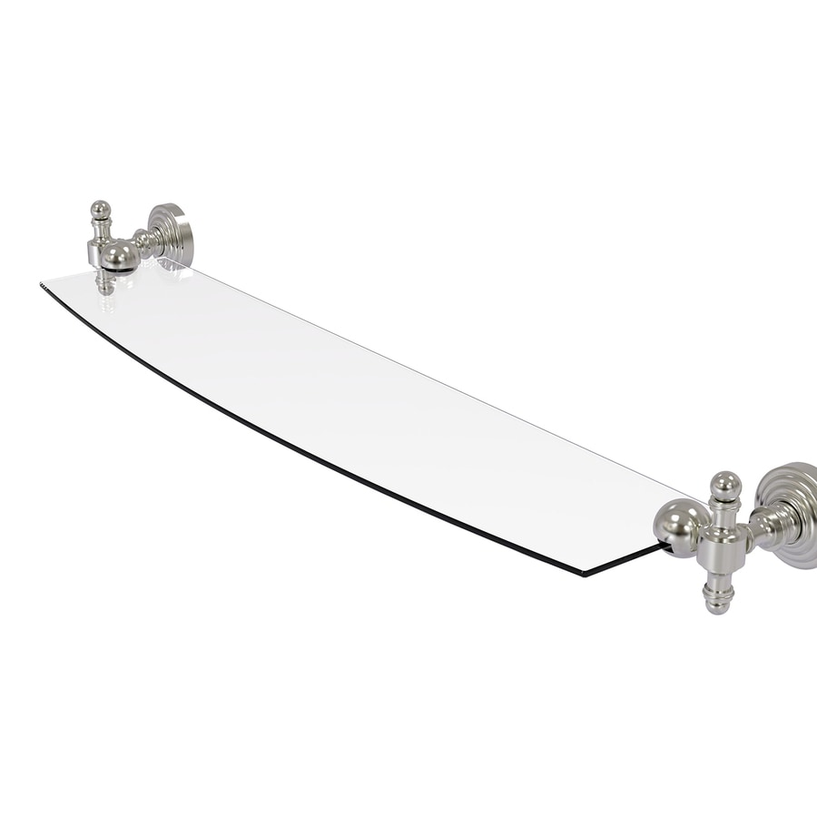 Allied Brass Retro-Wave Satin Nickel Brass Bathroom Shelf