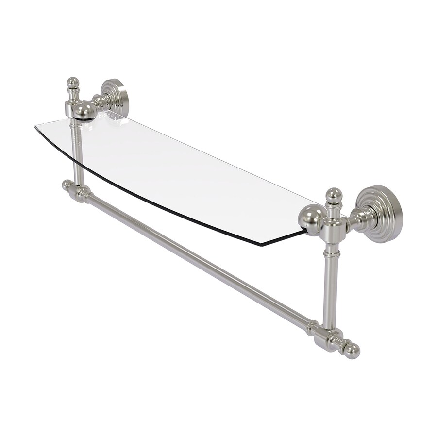 Allied Brass Retro-Wave Satin Nickel Brass Bathroom Shelf