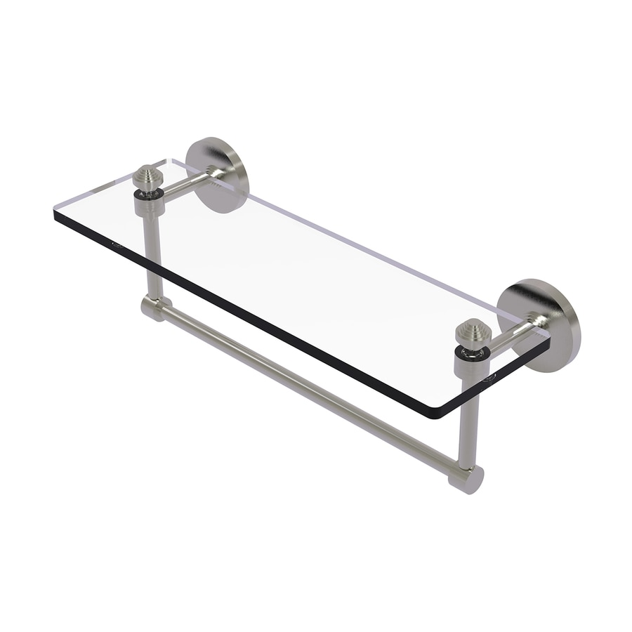 Allied Brass Southbeach Satin Nickel Brass Bathroom Shelf
