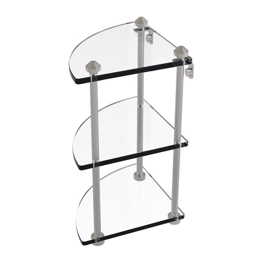 Allied Brass Southbeach 3-Tier Satin Nickel Brass Bathroom Shelf