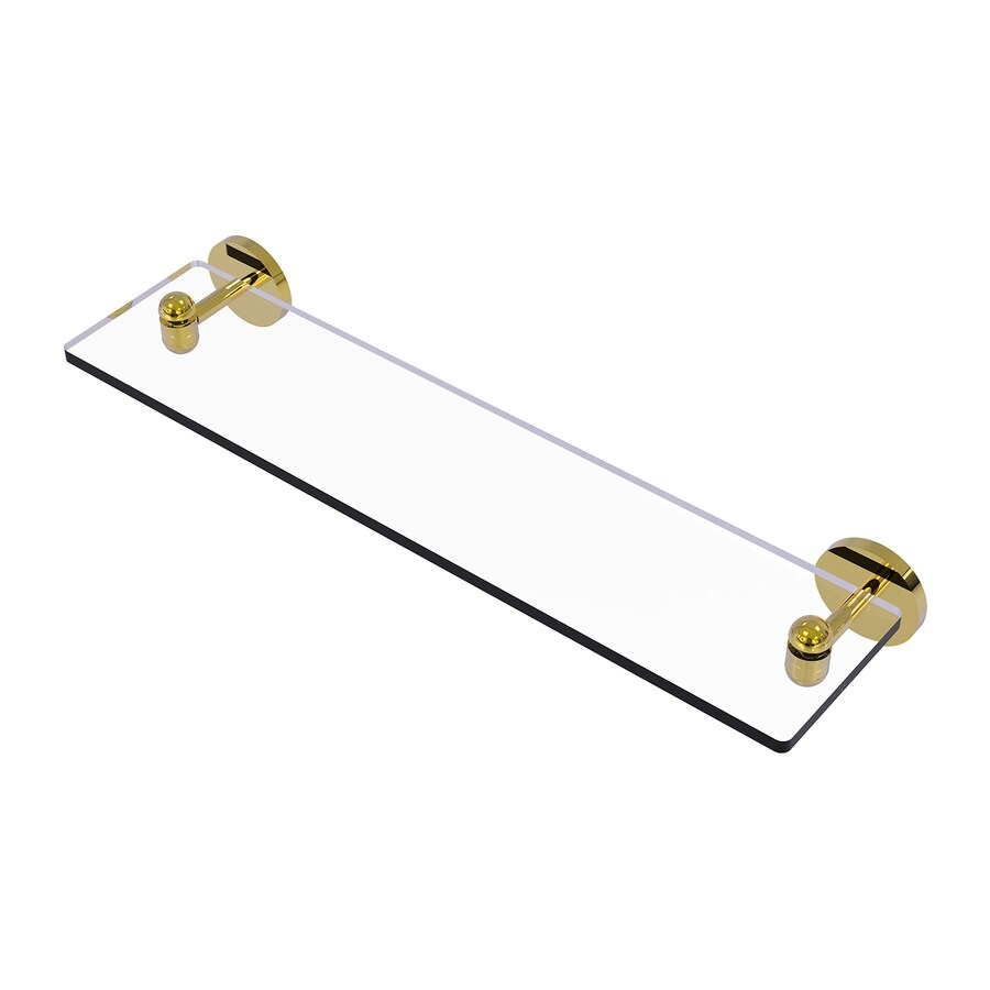 Allied Brass Tango Polished Brass Brass Bathroom Shelf