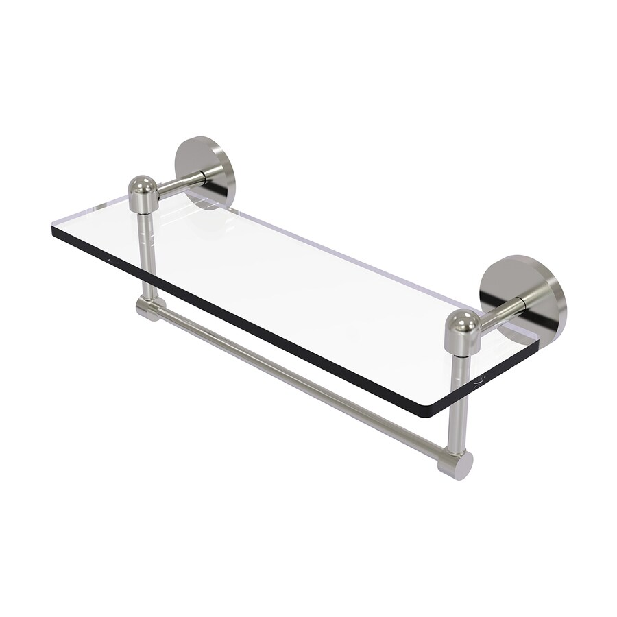 Allied Brass Tango Satin Nickel Brass Bathroom Shelf