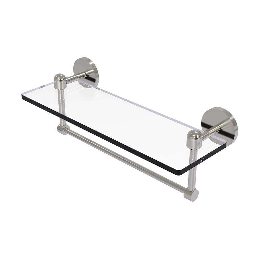 Allied Brass Tango 1-Tier Satin Nickel Brass Bathroom Shelf
