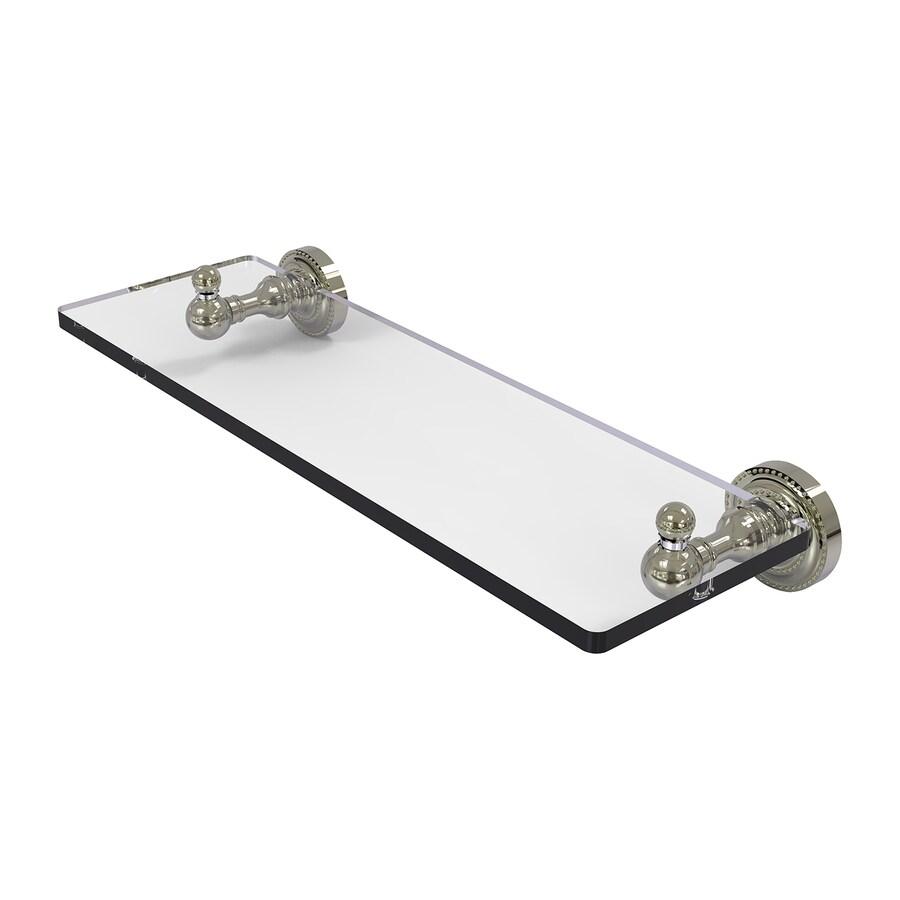 Allied Brass Waverly Place 1-Tier Polished Chrome Brass Bathroom Shelf