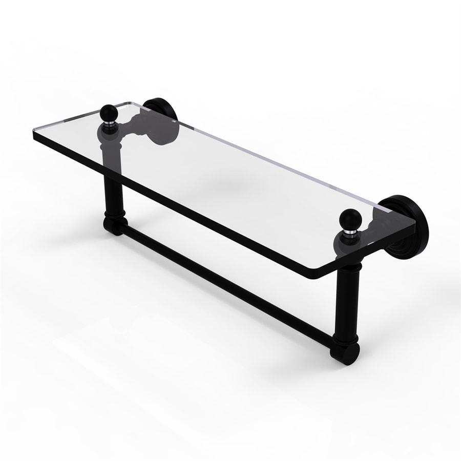 Allied Brass Waverly Place 1-Tier Matte Black Bathroom Shelf