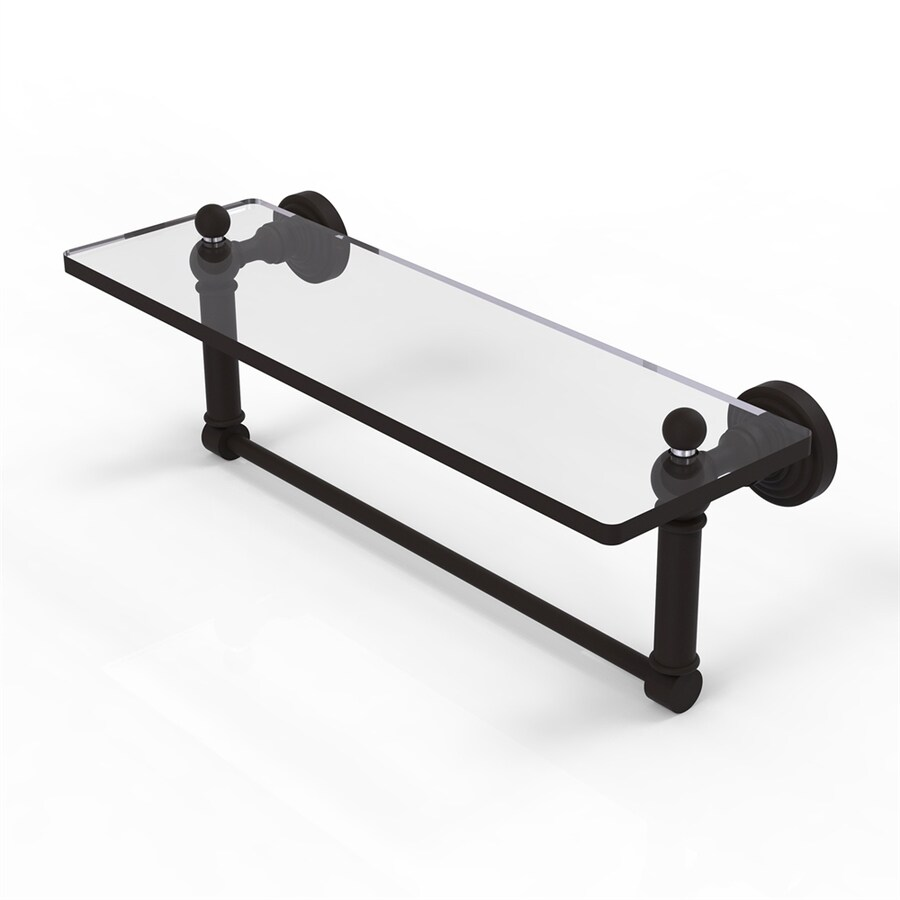 Shop Allied Brass Waverly Place 1 Tier Oil Rubbed Bronze Bathroom Shelf At