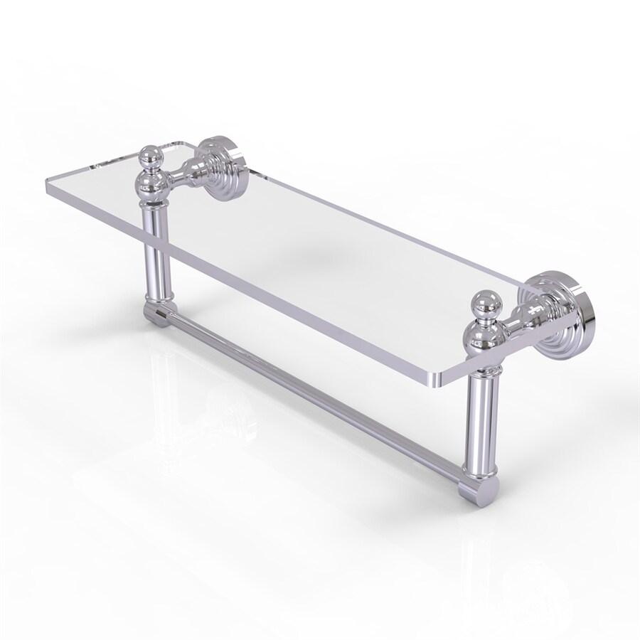 Allied Brass Waverly Place Polished Chrome Brass Bathroom Shelf