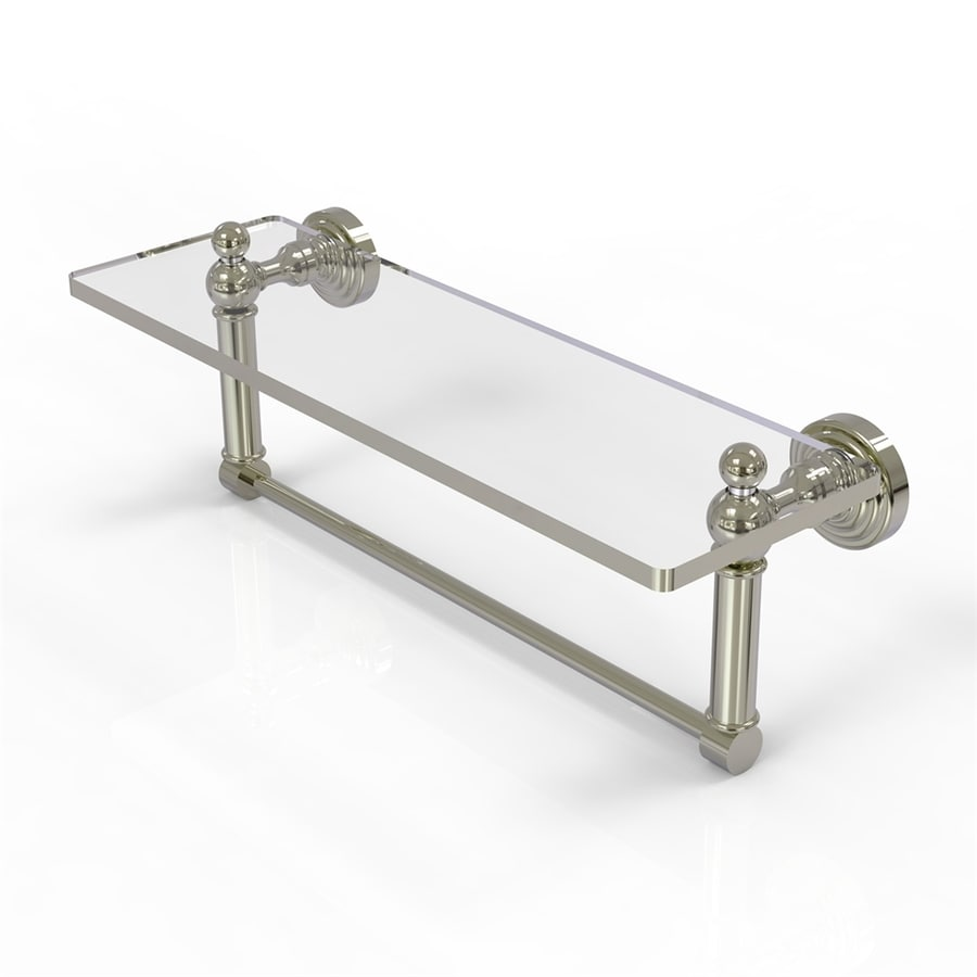 Allied Brass Waverly Place Polished Nickel Brass Bathroom Shelf